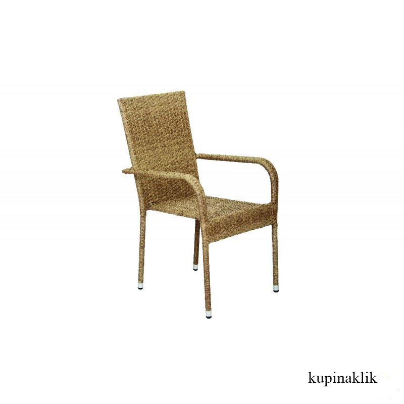 Baštenska stolica od ratana crna Bay