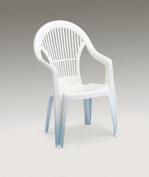 Baštenska stolica plastična Vega bela