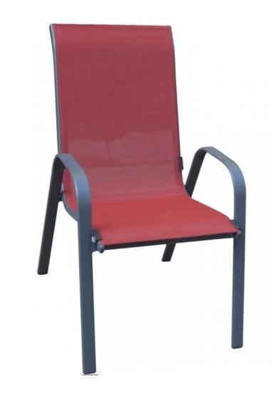 Baštenska stolica Como crvena
