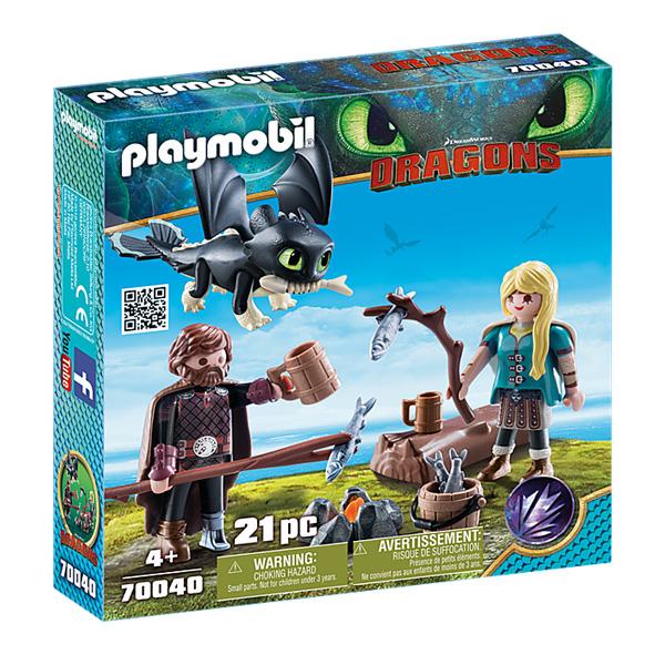 Playmobil- Dragon Hiccup i Astrid sa zmajem