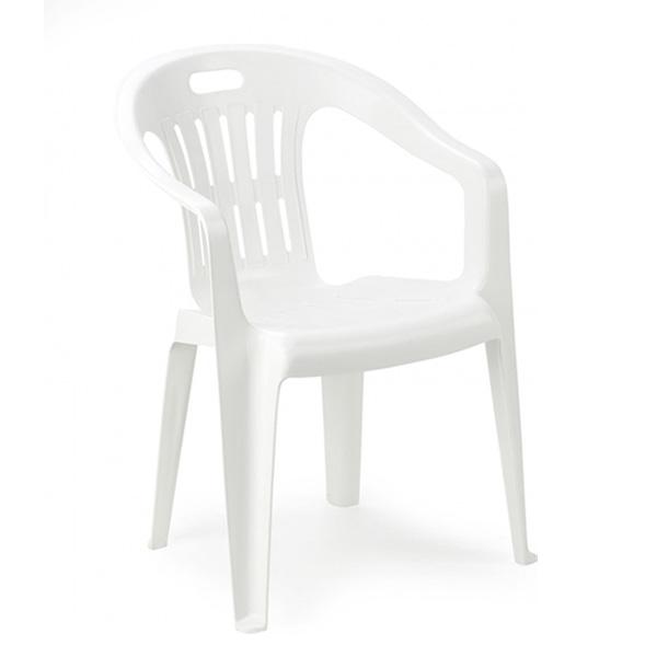Baštenska stolica plastična Piona bela