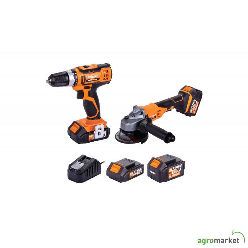 Set akumulatorska busilica i akumulatorska brusilica